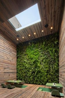 Artificial inside living wall. Pinterest